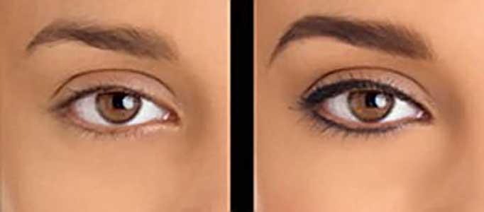 Татуаж глаз фото до и после татуажа